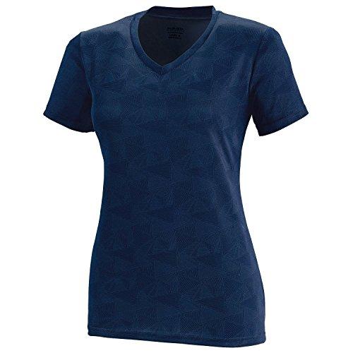 Augusta Sportswear mujer Elevate camiseta de absorción de humedad Azul - Navy/White Print
