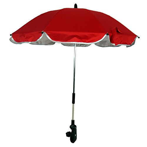 RoseSummer Pushchair Baby Stroller Umbrella and Holder UV Rays Rain Sun Canopy (Red) by RoseSummer