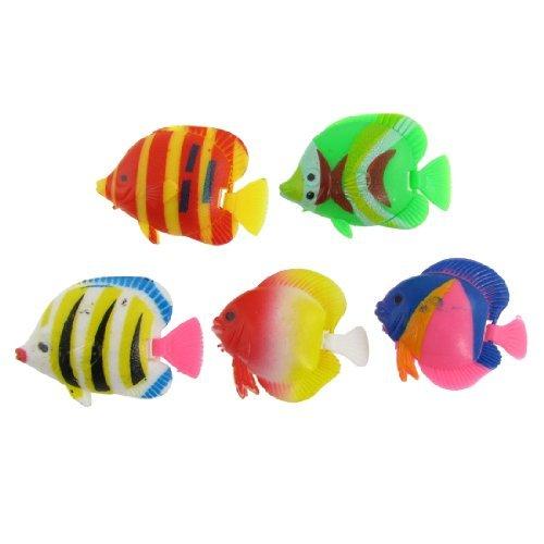 Amazon.com: eDealMax DE 5 piezas de plástico acuario Giro de voladizo Tropical Adorno de peces, Multicolor: Pet Supplies