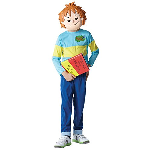 [PST Big Boys' Horrid Henry Fancy Dres Costume Large (8-10 Years) Blue] (Pinata And Bat Costume)