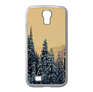 Snowy Fir Tree Forest Watercolor style Cover Samsung Galaxy S4 I9500 Case (Winter Watercolor style Cover Samsung Galaxy S4 I9500 Case)