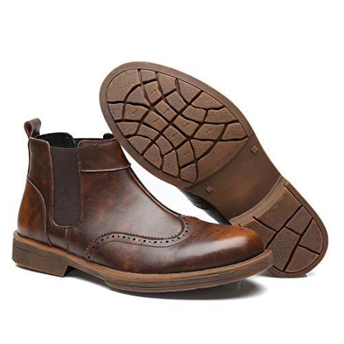 Da Martin DANDANJIE Inghilterra Stile Intagliato Mocassini Scarpe Stivali Uomo Brass Stivali RAPSqn