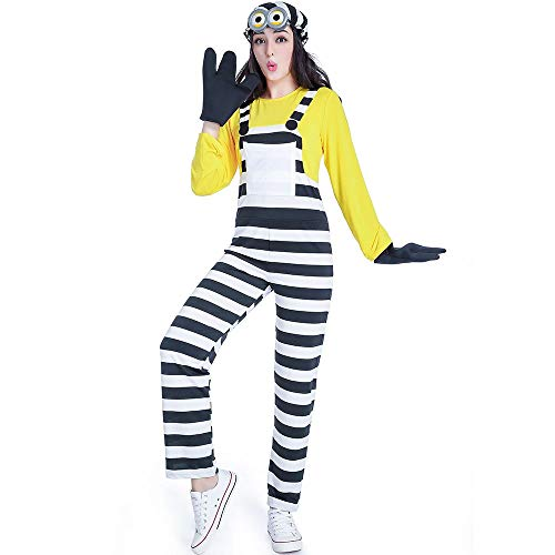 XL European and American Men and Women Halloween Costumes Cosplay Anime Thief Daddy Little Yellow Man Game Uniform (Color : Womens, Size : XL)