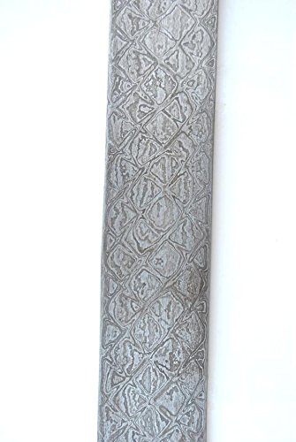 10' Damascus Blade (10'' Custom India Damascus Steel Bar Billet Knife Blade Blank Making Supply #78)