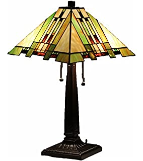 Tiffany style stained glass table lamp golden mission floor tiffany style stained glass table lamp aspen mission aloadofball Choice Image