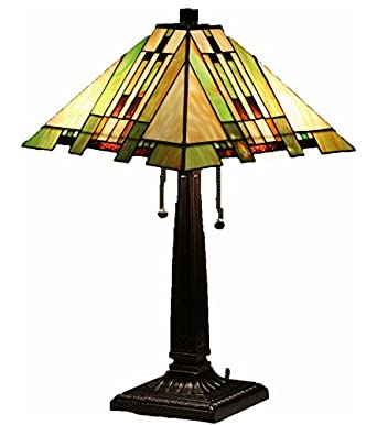 Tiffany Style Stained Glass Table Lamp U0026quot;Aspen Missionu0026quot;