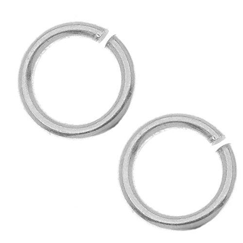 Metal Designs Nunn (Nunn Design Antiqued Silver Plated Pewter Open Jump Rings 8.5mm 17 Gauge (20))