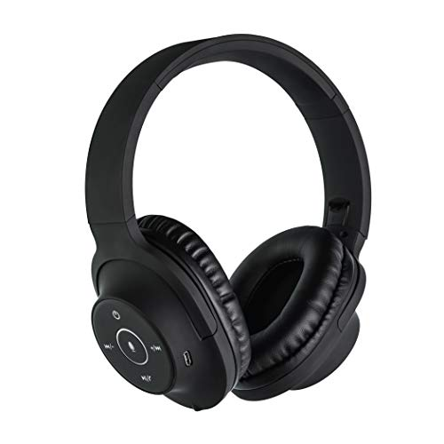 SoundLogic AER Voice Assistant Wireless Stereo Bluetooth Headphone (Black, Over The Ear)