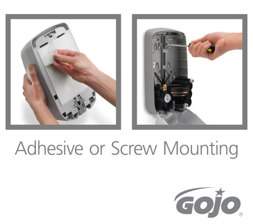 "Image of GOJO 2740-01 Dove Gray TFX Touch Free Dispenser with Matte Finish, 6"" Width x 10.5"" Height x 4"" Depth"