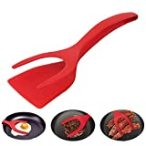 KOBWA Egg Flipper Spatula, Egg Spatula Grip and Flip Spatula 2 In 1 Cooking Kitchen Spatu for Perfect Pancake, French Toast and Omelet Making