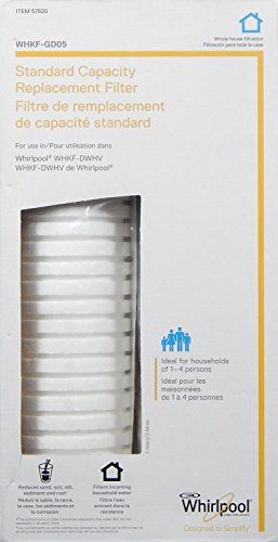 WHIRLPOOL Standard Capacity Whole House Filtration Replacement Filter (2 Pack) WHKF-GD05 (Packaging May Vary) Nominal Filtration