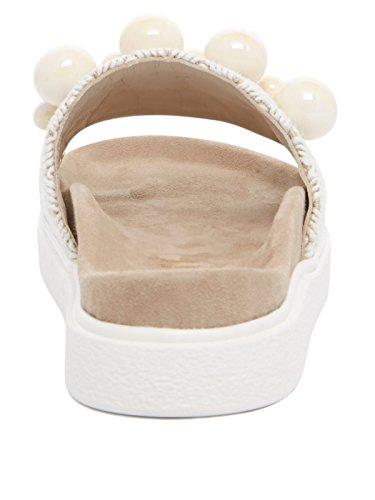Inuikii Schuhe Damen Sandale 2060 Raffia Parel Weiss Blanke Vrouwen
