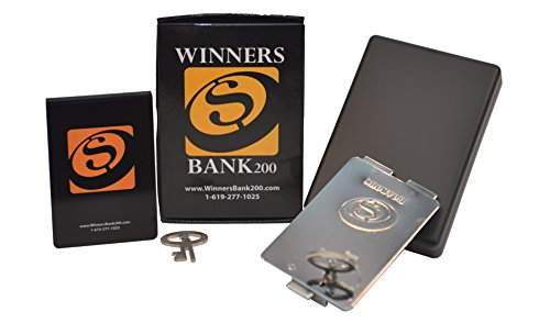 - Winners Bank200 (Matte Black) The perfect cash holder/metal wallet for casino game players