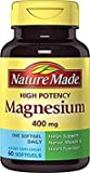 Nature Made High Potency Magnesium 400 Mg, 60-Count , Pack of 2