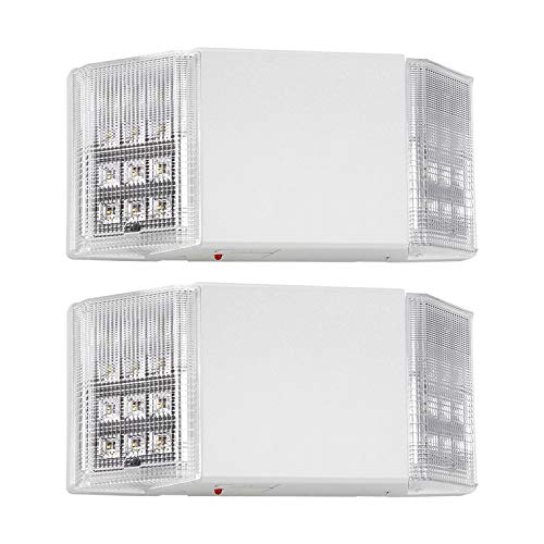 (TORCHSTAR LED Emergency Exit Light with Battery Backup UL-Listed, 120V/277V Input, High Light Output for Hallways/Corridors/Stairways, Pack of 2)