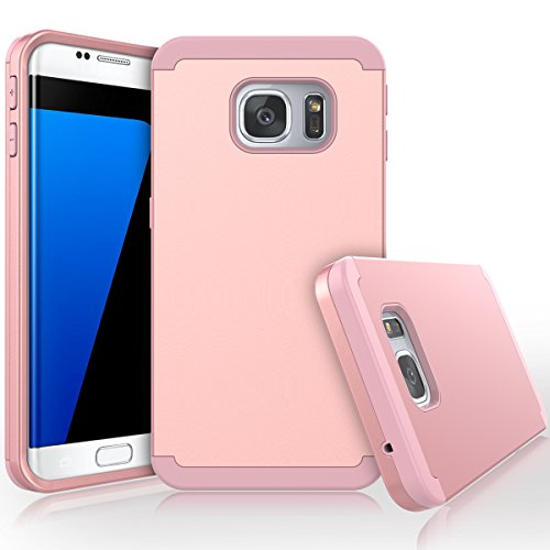 Shockproof Hard TPU Case for Samsung Galaxy S7 Edge (Hot Pink/Blue) - 6