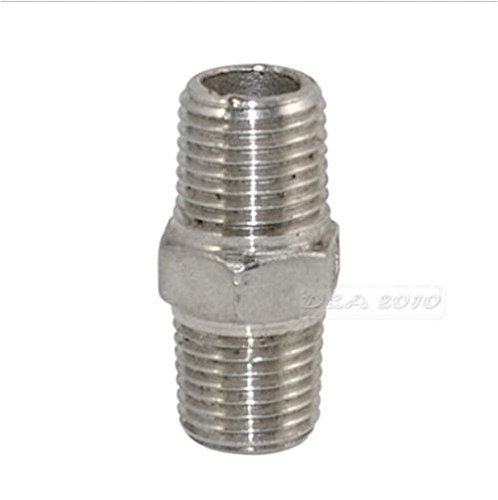 3/4'' Male x 3/4'' Male Hex Nipple SS 304 Threaded Pipe Fitting NPT megairon