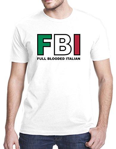 FBI Full Blooded Italian T-Shirt, Medium, White ()