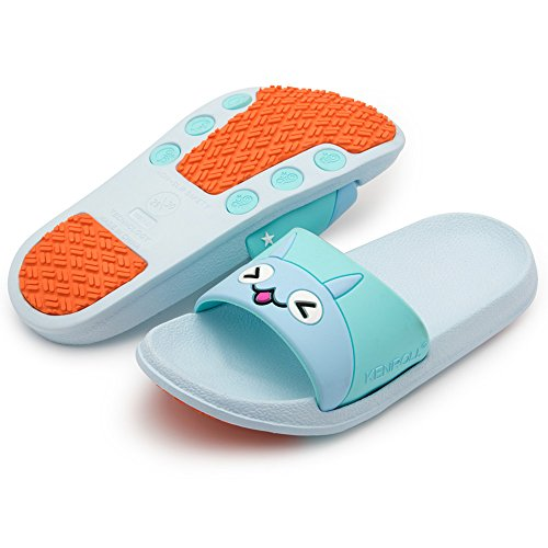 Women Light k Non for Kids Men Soft Shoes and Unisex Sandals Flip Blue Flop KENROLL Slippers Pool Slip and Shower Slide Beach q1wanCHE