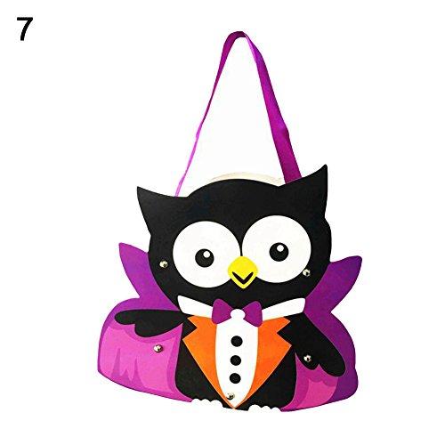 yanQxIzbiu Kids Handwork DIY Halloween Cartoon Ghost Castle Pumpkin Gift Candy Bag Handbag - -