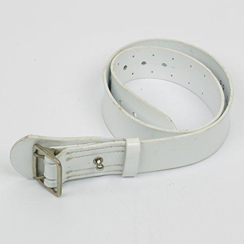 Original French White Pistol Belt - Military Police Issue