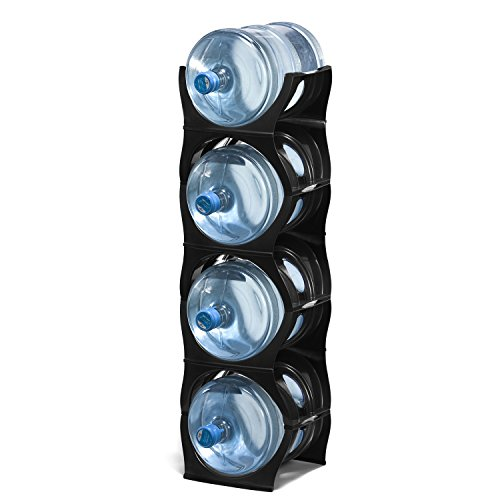 U Water Cooler Bottle Rack (4 Bottle, Black) Water Bottle Rack