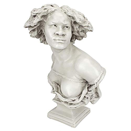 Design Toscano Negresse Captive Medium 1869 Statue, Antique Stone