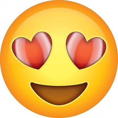 Smiley mit herzen in den augen