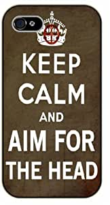 Diy For Ipod 2/3/4 Case Cover Keep Calm and aim for the head - black plastic Keep Calm, Motivation and Inspiration, dead, walking