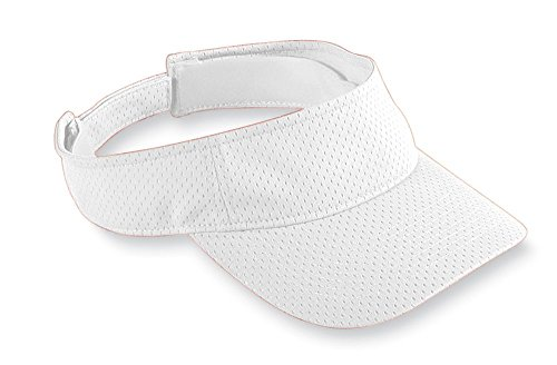 Augusta Sportswear Athletic Mesh Visor, One Size, White