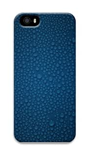 Dark Blue Water Droplets Polycarbonate Hard Case Cover for Iphone 5 5s
