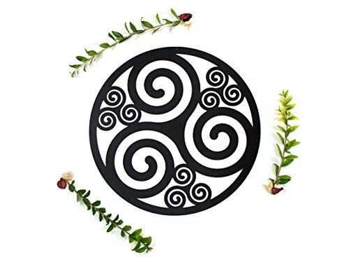 CONTRAXT Triskel Decoracion Celta Cuadro Mandala Madera Pared rusticos Cuadros Decoracion hogar Pared Salon Panel Madera…