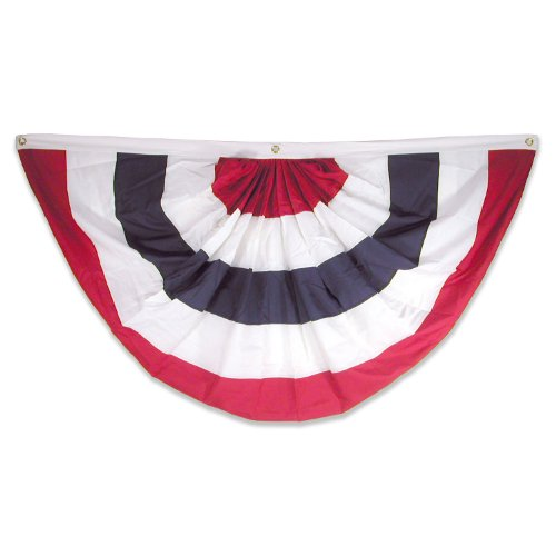 (Super Tough Nylon Pleated Fan Flag Bunting 3' x 6' No)