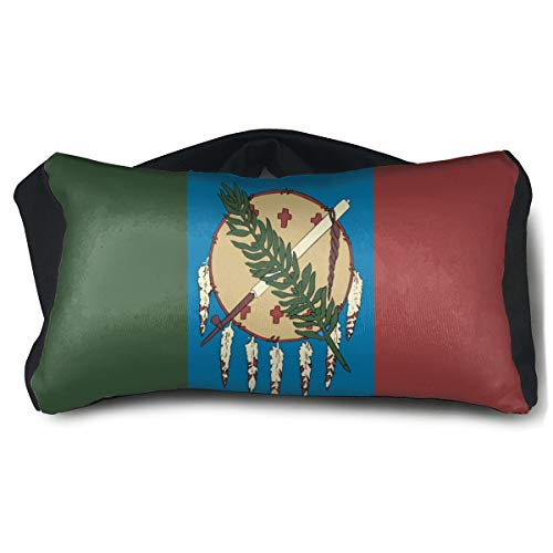 Flame Flora Oklahoma State Flag Portable Eye Pillow A Comfortable Portable Eye Pillow That Protects The Eyes and Improves Sleep Quality.