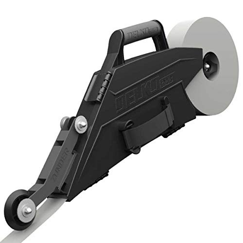 Delko Zunder Drywall Banjo Taping Tool with Reversible Inside Corner Roller Wheel - Dual Right/Left Hand Operation