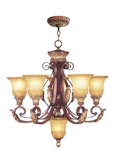 Amazon.com: Livex Lighting 8555-63 Villa Verona - Lámpara de ...