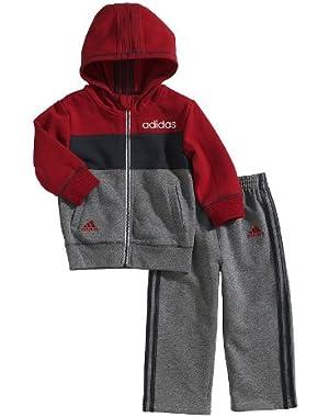 Colorblock Hoodie & Pants Set - Baby