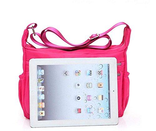 Cross Shoulder Diaper black 1 Casual Black Egogo Bag Messenger Women's Pockets Handbag Body With Muliti E303 Travel 8zXZw