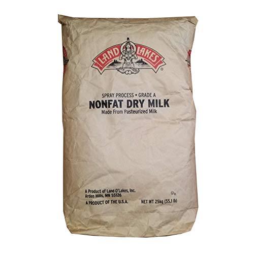50 LB Land O Lakes Nonfat Dry Milk Powder | Grade A & Pasteurized | Makes 74 Gallons | 28.5% Milkfat Dry Whole Milk Powder | Bulk Size 50 LB Bag