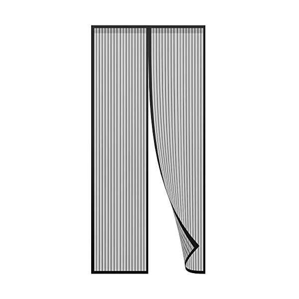 41CemEEIHbL Anpro Fliegengitter Tür Moskitonetz Tür 90 x 212CM, Insektenschutz Magnet Vorhang Fliegenvorhang für Balkontür…