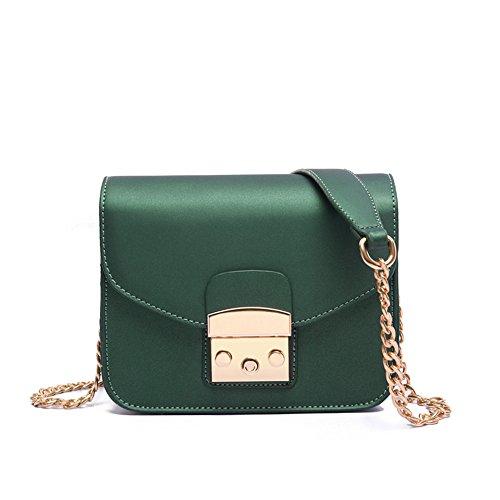Pequeña bolsa bloquear scrub cadena única Bolsa Bolso Bolso Mini diagonal,verde Green