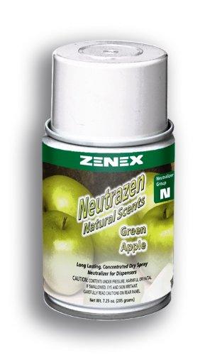 Zenex Neutrazen Green Apple Scent Metered Odor Neutralizer - 12 Cans - Ups International Priority Mail