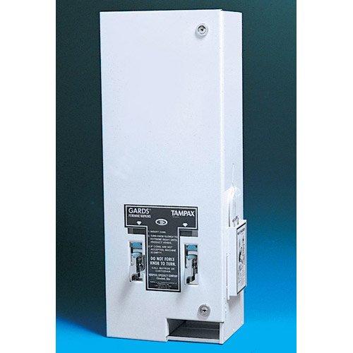 - HOSPECO 125 Sanitary Napkin/Tampon Dispenser, Coin, Metal, 10 x 6 1/2 x 26 1/4, White