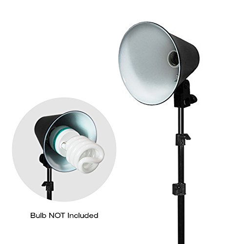 Juilius Studio 6.5 Inch Photography Continuous Light Head with Reflector and 86 Inch Adjustable Light Stand / Accent, Side, Background Lighting, Photo/Video Studio Lighting Kit PROMO26_AM1 by Julius Studio