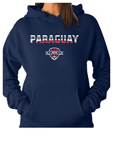 TeeStars - Paraguay National Soccer Team 2016 Paraguayan Fans Women Hoodie XX-Large Blue ()
