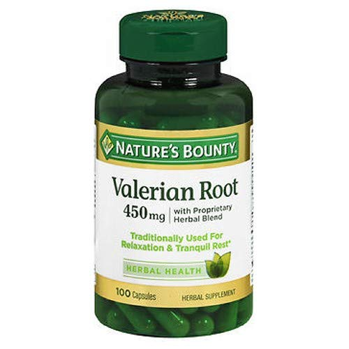 Nature's Bounty Valerian Root 450 mg 100 Count (Pack of 4)
