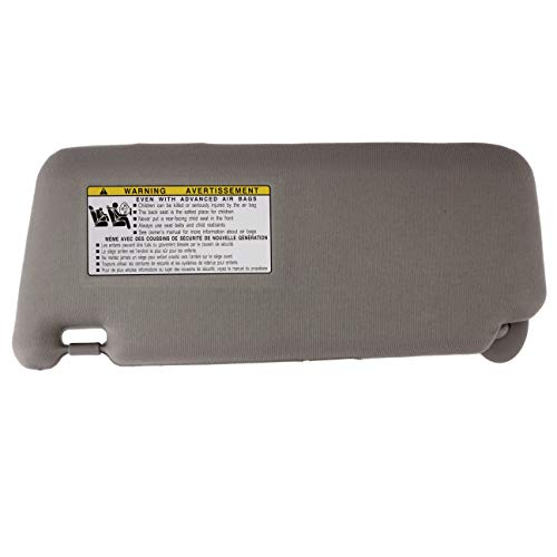 IAMAUTO 72046 New Sun Visor Right Passenger Side Gray for 2007 2008 2009 2010 2011 Toyota Camry Without Vanity Light