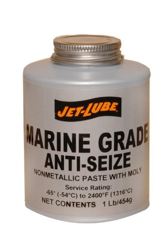 Jet-Lube Marine Grade Anti-Seize, 1/2 lbs Brush Top Can