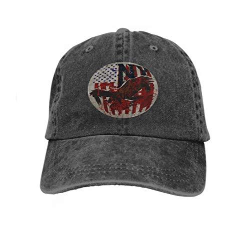 Hip Hop Baseball Cap Hat for Boys Girls American Eagle Linework Fashion Style Design New Trend Dream Black ()