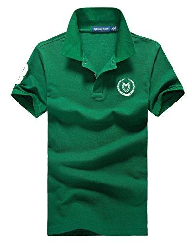 (シンアンドケン) sin&ken ポロシャツ メンズ シャツ 半袖 ポロ ゴルフウェア トップス L グリーン [並行輸入品]